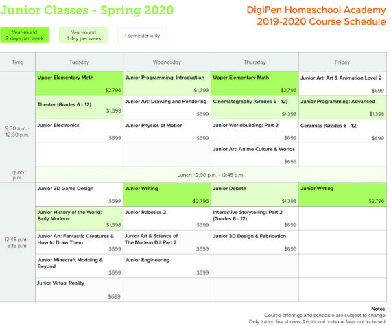 Updated19 - Homeschool_schedule_Junior_SP