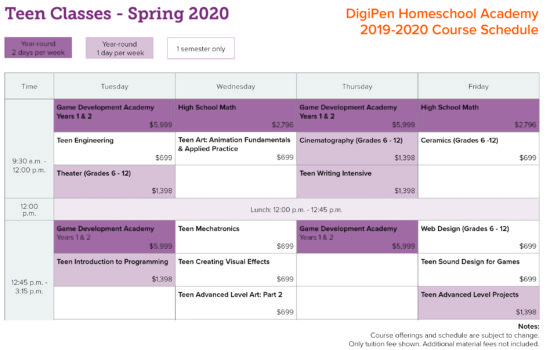 Updated19 - Homeschool_schedule_Teen_SP